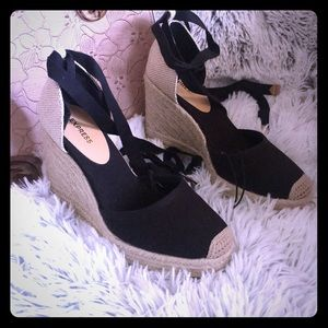 NWT Strappy Wedge Espadrilles